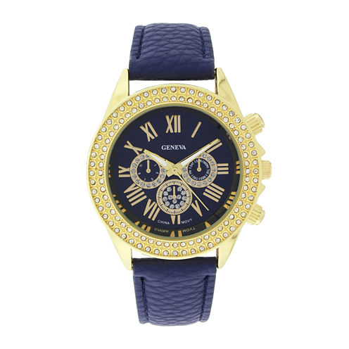 Geneva Womens Crystal-Accent Watch