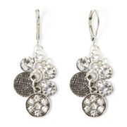 Arizona Crystal and Silver-Tone Cluster Drop Earrings