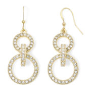 Mixit™ Gold-Tone Pavé Double-Circle Earrings