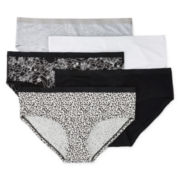 Ambrielle® 5-pk. Cotton Boyshort Panties