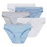 Ambrielle® 5-pk. Cotton Bikini Panties