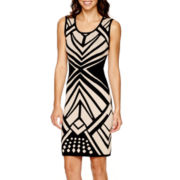 Bisou Bisou® Sleeveless Bodycon Sweater Dress