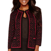 Black Label by Evan-Picone Jacquard Cardigan