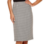 Black Label by Evan-Picone Houndstooth Skirt