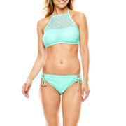 Aqua Couture High-Neck Halter Swim Top or Side-Tie Bottoms