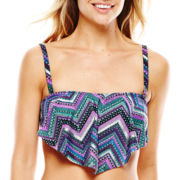 Aqua Couture Flounce Bandeau Swim Top
