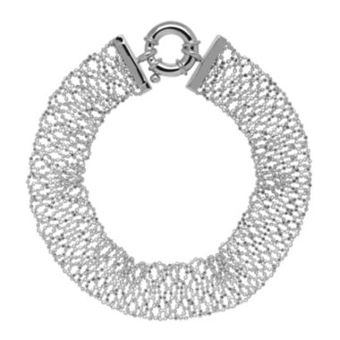 jcpenney.com |  Sterling Silver Woven Beaded Chain Bracelet