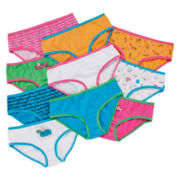 Total Girl® 10-pk. Days of the Week Hipsters Panties - Girls 4-14