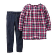 Carter's® Plaid Tunic and Jeggings - Toddler Girls 2t-5t