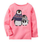 Carter's® Long-Sleeve Penguin Tee - Toddler Girls 2t-5t