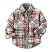 Carter's® Button-Front Flannel Shirt - Toddler Girls 2t-5t