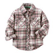 Carter's® Button-Front Flannel Shirt - Preschool Girls 4-7