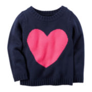 Carter's® Heart Sweater - Preschool Girls 4-6x