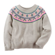 Carter's® Fair Isle Sweater - Preschool Girls 4-6x