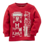Carter's® Fire Truck Thermal Tee - Toddler Boys 2t-5t