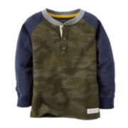 Carter's® Camo Henley - Toddler Boys 2t-5t