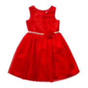 Youngland® Glitter Mesh Dress - Preschool Girls 4-6x