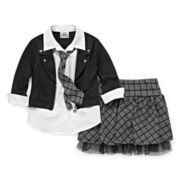 Knit Works Jacket Top and Skort - Preschool Girls 4-6x