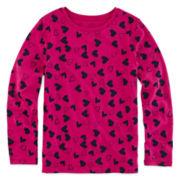 Arizona Long-Sleeve Printed Favorite Tee - Preschool Girls 4-6x