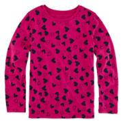 Arizona Long-Sleeve Printed Favorite Tee - Preschool Girls 4-6x