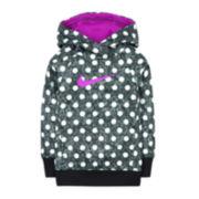 Nike® Polka Dot Therma-FIT Fleece Hoodie - Preschool Girls 4-6x