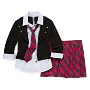 Beautees Jacket Top and Skort Set - Girls 7-16