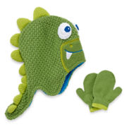 Spiked Dino Hat and Gloves Set - Toddler Boys 2t-4t