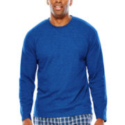 IZOD® Waffle Crewneck Sleep Sleep Shirt - Big & Tall