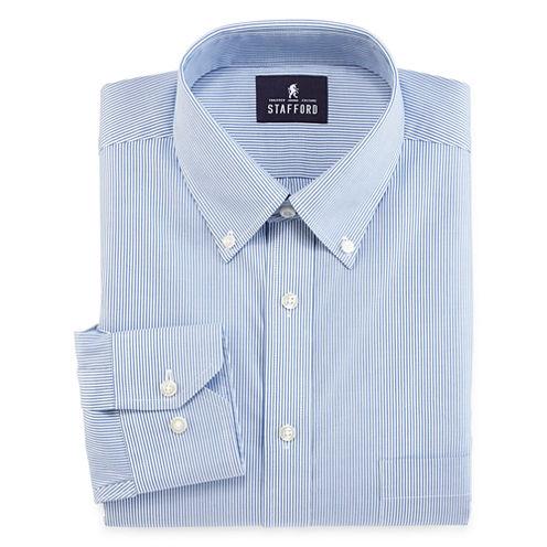 Stafford® Non-Iron Cotton Pinpoint Oxford Dress Shirt