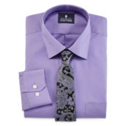 Stafford® Easy-Care Dress Shirt & Tie Boxed Set - Big & Tall