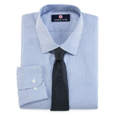 jcpenney.com | Thomas Stone Dress Shirt and Tie Set - Big & Tall