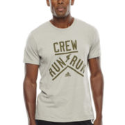 adidas® Crew Run Run Graphic Tee