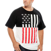 Flag Split Short-Sleeve Graphic Tee - Big & Tall