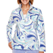 Alfred Dunner® Aurora Borealis Long-Sleeve Fleece Jacket - Petite