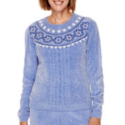Alfred Dunner® Aurora Borealis Long-Sleeve Chenille Sweater - Petite