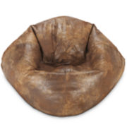 "98"" Faux-Leather Bean Bag"