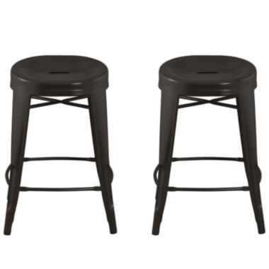 jcpenney.com | Quinn™ Contoured Set of 2 Backless Barstools