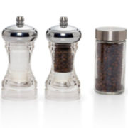 Kamenstein® Dual Plastic Salt and Pepper Grinder Set