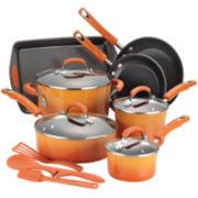 Rachael Ray® 14-pc. Porcelain Enamel Nonstick Cookware Set