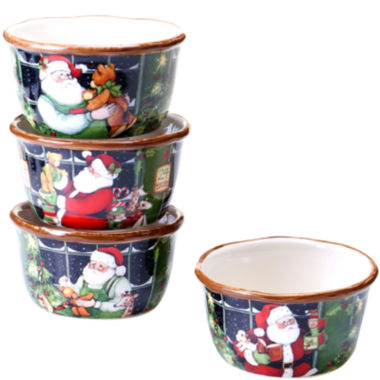 jcpenney.com | Certified International Santa's Workshop Set of 4 Ice Cream Bowls