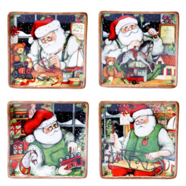 jcpenney.com | Certified International Santa's Workshop Set of 4 Dessert Plates