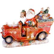 Certified International Santa's Workshop Fire Truck Centerpiece