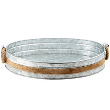 jcpenney.com | Cambridge® Shiloh Galvanized and Rope Bar Tray