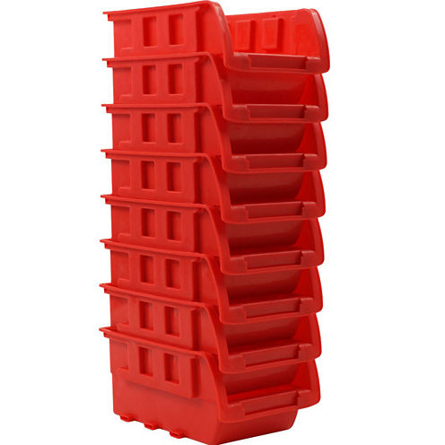 Stalwart™ 8-Bin Wall-Mounted Parts Rack