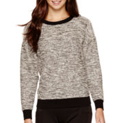 BELLE + SKY™ Long-Sleeve Textured Sweatshirt