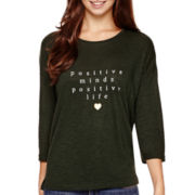 MNG by Mango® 3/4-Sleeve Positive Graphic T-Shirt