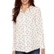 MNG by Mango® Long-Sleeve Eiffel Tower Print Top