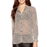 MNG by Mango® Long-Sleeve Leopard Print Top