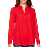 MNG by Mango® Long-Sleeve Button-Front Top