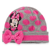 Disney Collection Minnie Mouse Fleece Hat - One Size